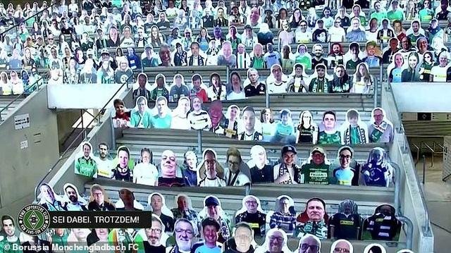 Monchengladbach gây sốc khi phủ kín sân bằng 13.000 ảnh cổ động viên - 3