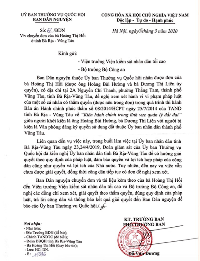 Tỉnh uỷ Bà Rịa - Vũng Tàu yêu cầu báo cáo vụ hành dân điển hình! - 3
