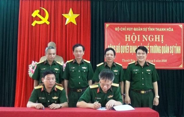 Giải thể Trường Quân sự tỉnh Thanh Hóa - 1