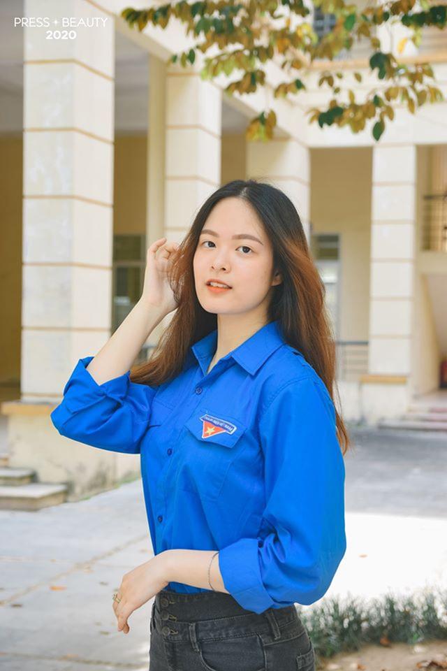 Top 10 thí sinh Hoa khôi Báo chí khoe sắc với màu áo xanh tình nguyện - 6