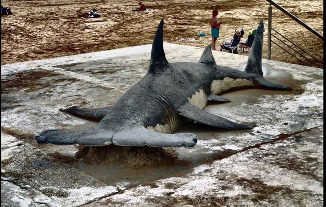 Hút mắt những tác phẩm điêu khắc siêu thực trên cát - 4