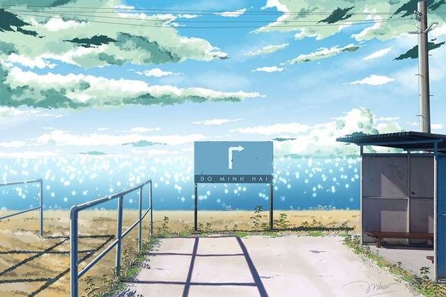 Nam sinh phác họa quê hương theo phong cách Anime đầy ấn tượng - 10