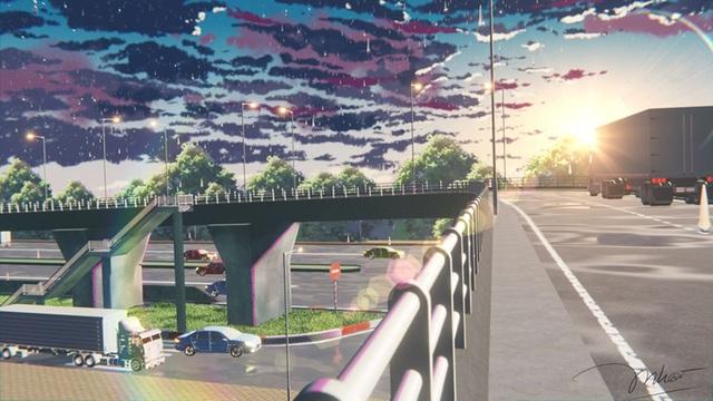 Nam sinh phác họa quê hương theo phong cách Anime đầy ấn tượng - 12