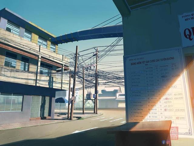 Nam sinh phác họa quê hương theo phong cách Anime đầy ấn tượng - 5