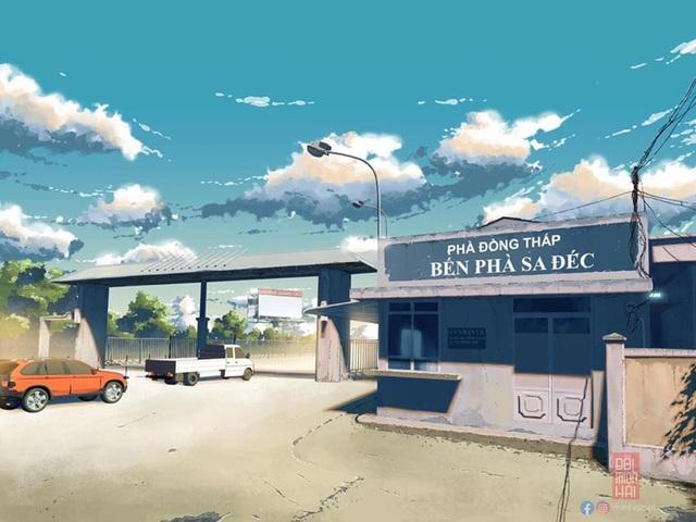 Nam sinh phác họa quê hương theo phong cách Anime đầy ấn tượng - 7
