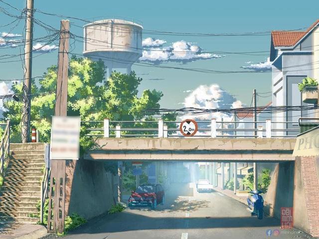 Nam sinh phác họa quê hương theo phong cách Anime đầy ấn tượng - 8