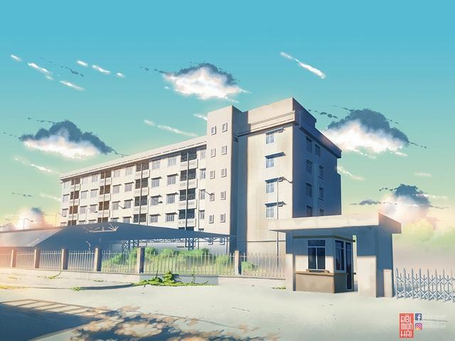 Nam sinh phác họa quê hương theo phong cách Anime đầy ấn tượng - 9