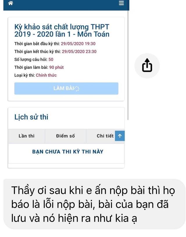 """Hà Nội: Học sinh lớp 12 """"vỡ trận"""" trong buổi thi khảo sát trực tuyến lần 1 - 2"""