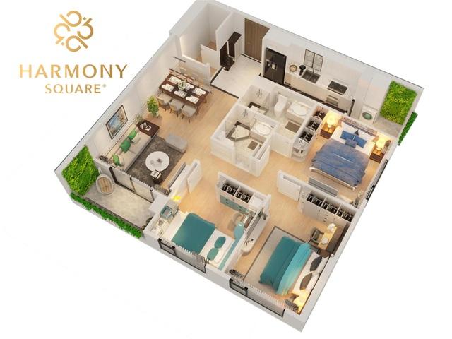 """Harmony Square: Dự án bốn mặt tiền """"độc nhất vô nhị"""" giữa đất vàng quận Thanh Xuân - 2"""