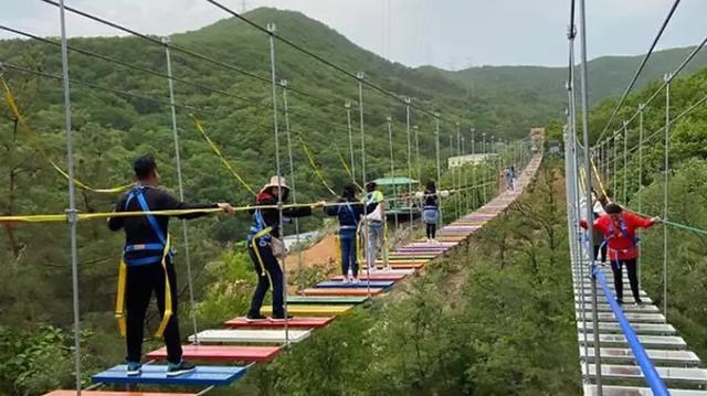 Bé 11 tuổi rơi cầu treo 60 mét trong khi tham quan công viên Trung Quốc - 1
