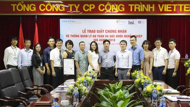 Công Trình Viettel: Doanh nghiệp viễn thông đầu tiên của Việt Nam được cấp ISO 45001 - 1