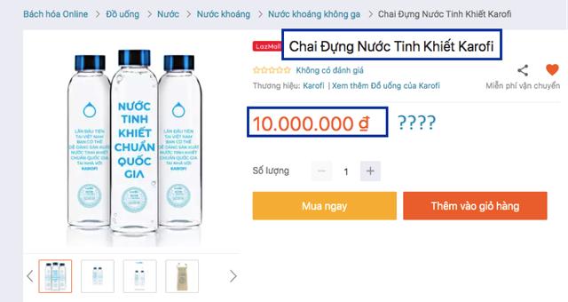 Nhà bán hàng giải thích sao về chai nước có giá đến 10 triệu đồng? - 1