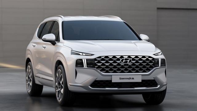 Lộ diện Hyundai Santa Fe 2021 - Dùng tiểu xảo để gia tăng kích thước - 2