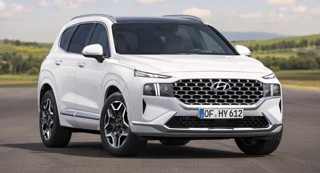 Lộ diện Hyundai Santa Fe 2021 - Dùng tiểu xảo để gia tăng kích thước - 1