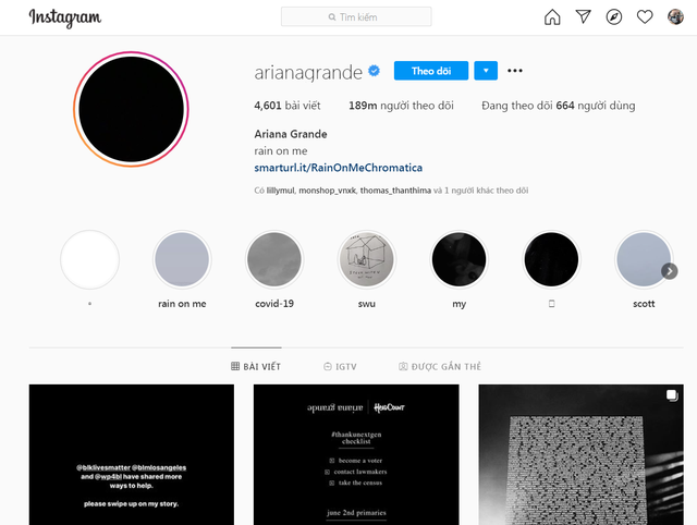 """Facebook, Instagram tràn ngập màu đen trong ngày """"Blackout Tuesday"""" - 1"""