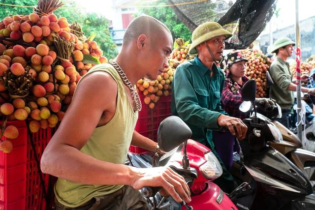 Thương lái nườm nượp thu mua vải Thanh Hà chín sớm - 2