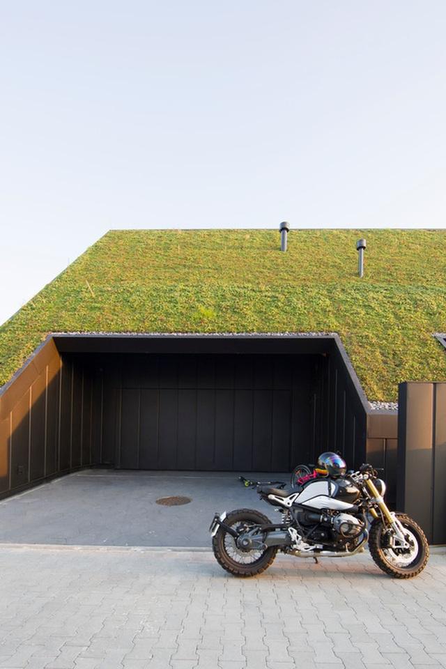 Chiêm ngưỡng nhà mái nghiêng phủ kín cây xanh nằm yên bình ở vùng ngoại ô - 4