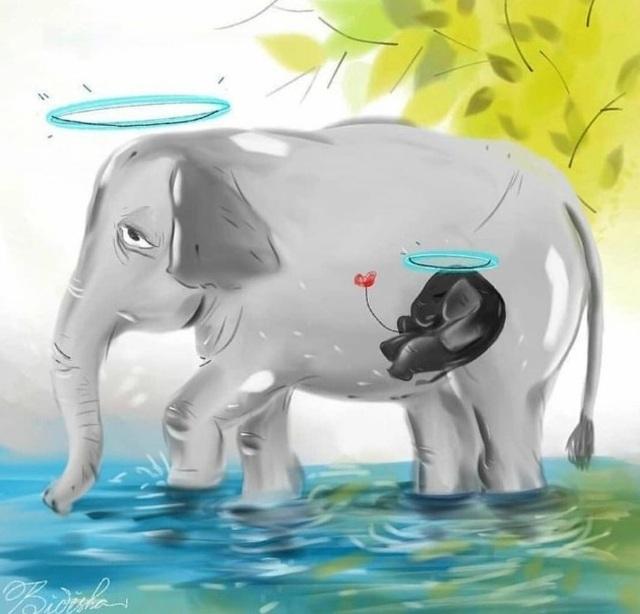 Cộng đồng mạng quốc tế xót xa trước bộ tranh kể về bi kịch của voi mẹ - 6