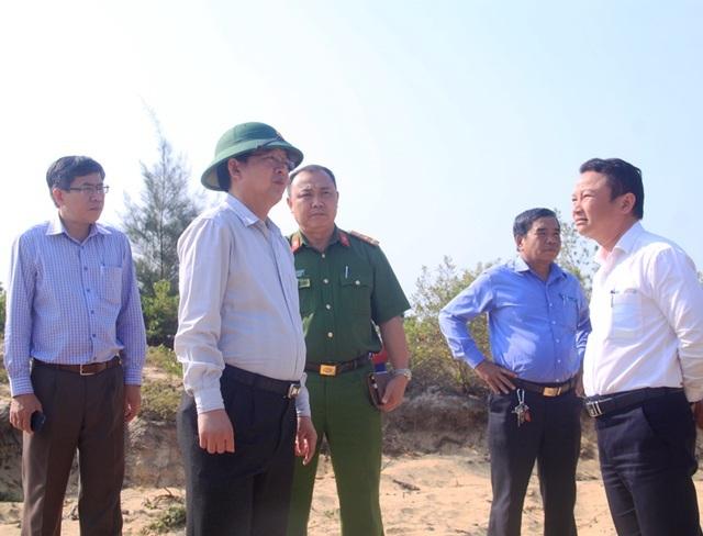 Quyết cưỡng chế các trường hợp lấn chiếm đất đai ở khu kinh tế Nhơn Hội - 1