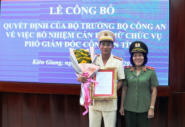 Bộ Công an bổ nhiệm Phó Giám đốc Công an tỉnh Kiên Giang