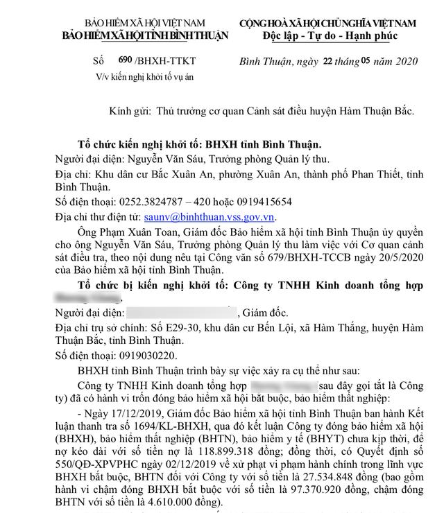 Bình Thuận:  8 doanh nghiệp bị đề nghị khởi tố vì nợ 1 tỷ đồng đóng BHXH  - 2