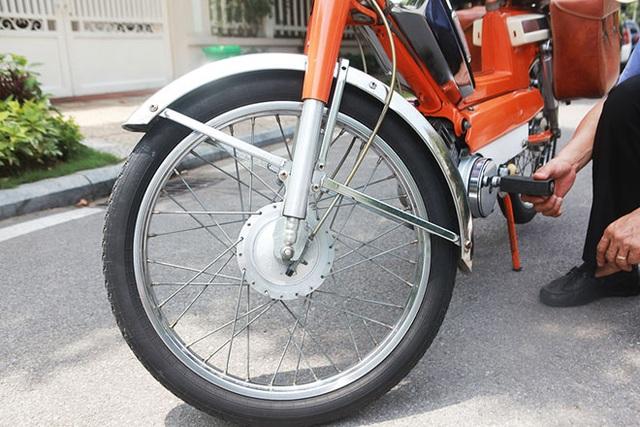 """Cận cảnh xe đạp máy """"cá vàng"""" từng cógiá bằng cả ngôi nhà mặt phố Hà Nội - 9"""