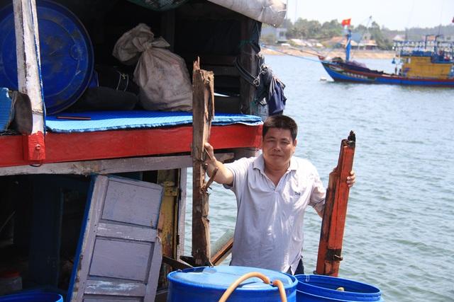 Quảng Ngãi: Tàu cá bị đâm chìm, 16 ngư dân rơi xuống biển - 2