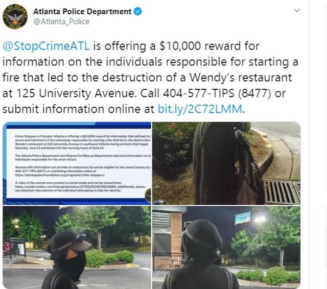Cảnh sát Mỹ treo thưởng 10.000 USD tìm nghi phạm vụ phóng hỏa bạo động - 1