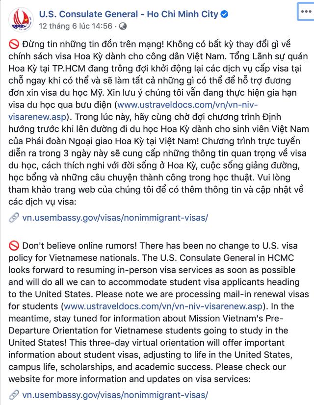 Tổng lãnh sự quán Mỹ bác tin đồn ngừng cấp visa cho du học sinh Việt - 1