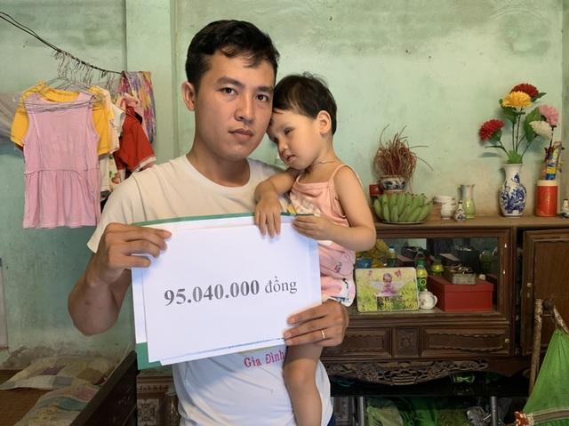 Bé gái bị hỏng đôi mắt được bạn đọc Dân trí giúp đỡ hơn 95 triệu đồng - 1