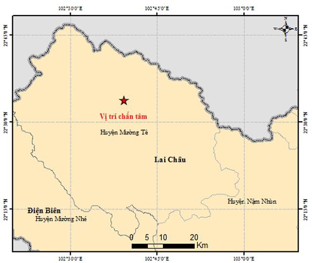 Xuất hiện động đất có độ lớn 4.9 tại Mường Tè – Lai Châu - 1