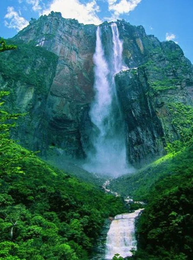 Thác nước cao nhất thế giới, nước chưa chạm đáy đã bốc hơi - 3