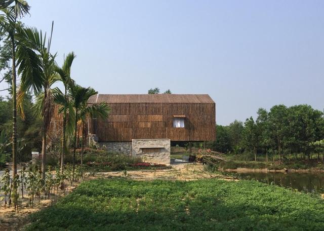 Chán biệt thự phố, vợ chồng Việt về quê làm nhà tranh giữa vườn cây, ao cá - 11