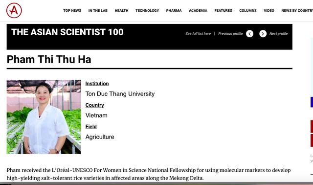 Ba nữ tiến sĩ Việt lọt top 100 nhà khoa học châu Á năm 2020 - 3