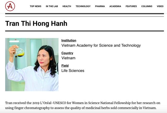 Ba nữ tiến sĩ Việt lọt top 100 nhà khoa học châu Á năm 2020 - 4