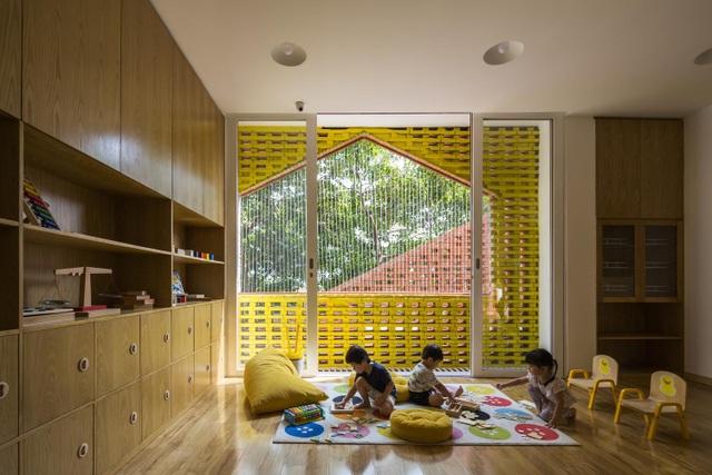 Nhà trẻ Việt bằng gạch mộc, xếp tầng như Lego được báo Tây khen hết lời - 5