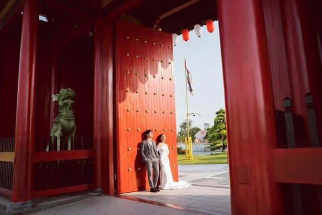 Ngất ngây bộ ảnh cưới đẹp như mơ tại vườn Nhật Bản Vinhomes Smart City - 1