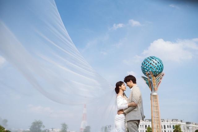 Ngất ngây bộ ảnh cưới đẹp như mơ tại vườn Nhật Bản Vinhomes Smart City - 11