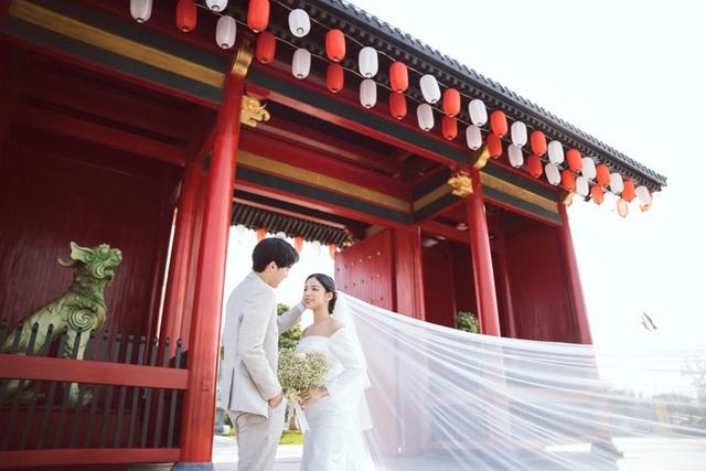 Ngất ngây bộ ảnh cưới đẹp như mơ tại vườn Nhật Bản Vinhomes Smart City - 2
