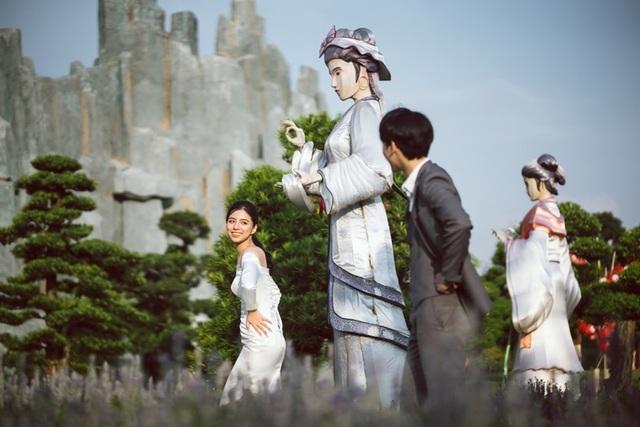 Ngất ngây bộ ảnh cưới đẹp như mơ tại vườn Nhật Bản Vinhomes Smart City - 5