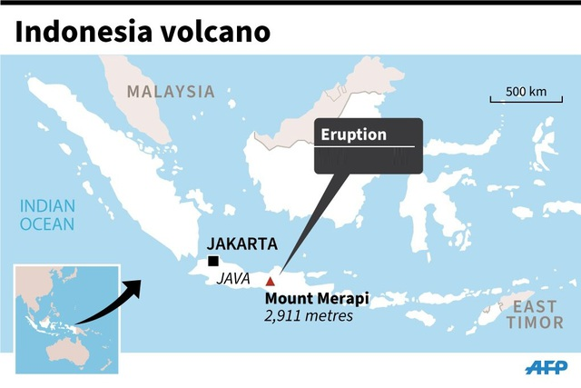 Núi lửa hoạt động mạnh nhất Indonesia phun trào tro bụi cao 6 km - 2