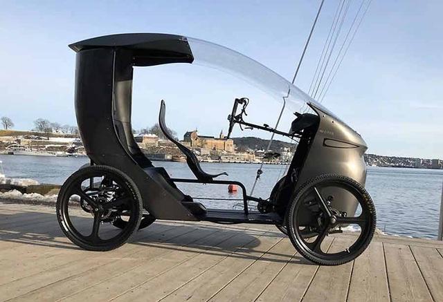 CityQ - Độc đáo xe đạp điện 4 bánh, chở được 3 người - 2