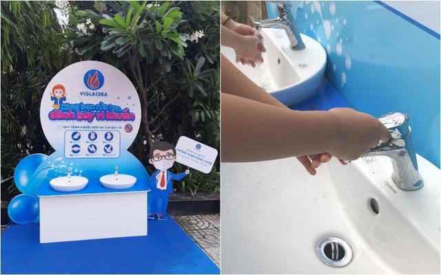 Viglacera lắp đặt 10 trạm rửa tay tại các trường học trên địa bàn TP. Hồ Chí Minh - 1