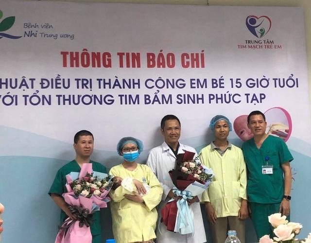 42 ngày cứu bé sơ sinh 15 giờ tuổi mắc cùng lúc 4 dị tật tim phức tạp - 3