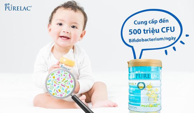 Sữa PureLac bổ sung lợi khuẩn Bifidobacterium cho trẻ hệ tiêu hóa khỏe mạnh - 1
