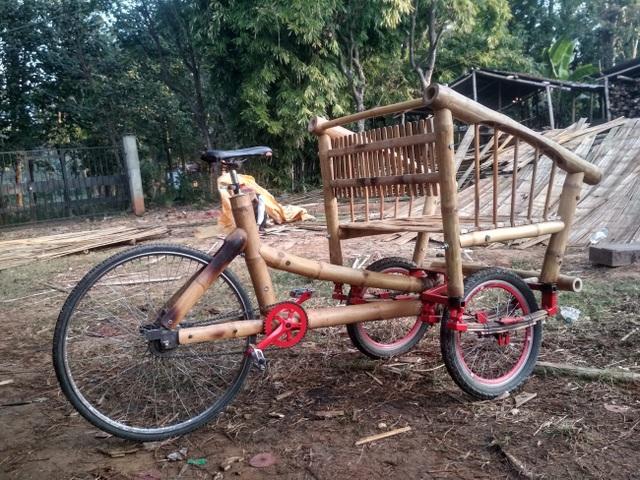 Độc đáo mẫu xe đạp điện đa năng bằng tre ở Nepal - 13