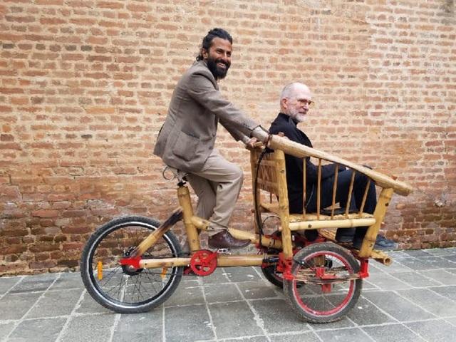 Độc đáo mẫu xe đạp điện đa năng bằng tre ở Nepal - 5
