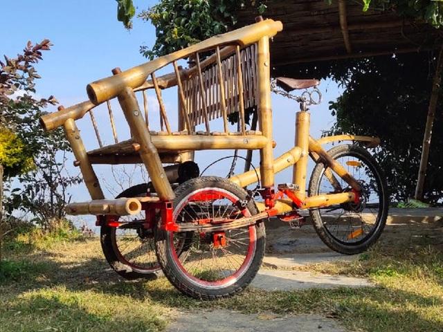 Độc đáo mẫu xe đạp điện đa năng bằng tre ở Nepal - 4