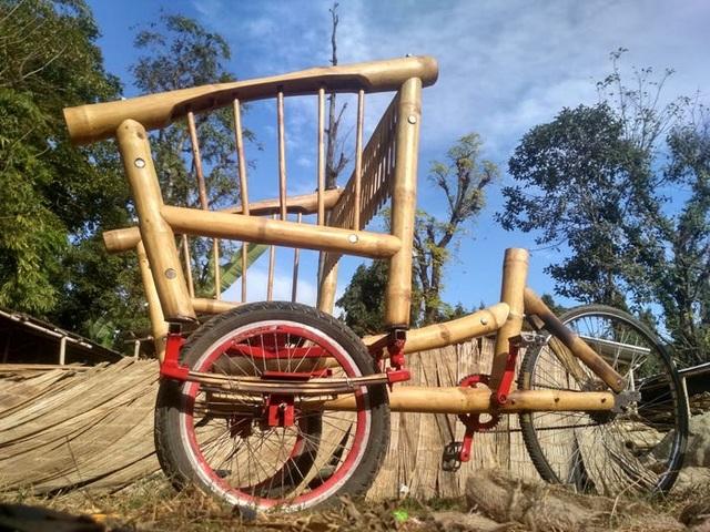 Độc đáo mẫu xe đạp điện đa năng bằng tre ở Nepal - 14