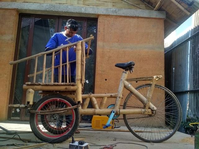 Độc đáo mẫu xe đạp điện đa năng bằng tre ở Nepal - 12
